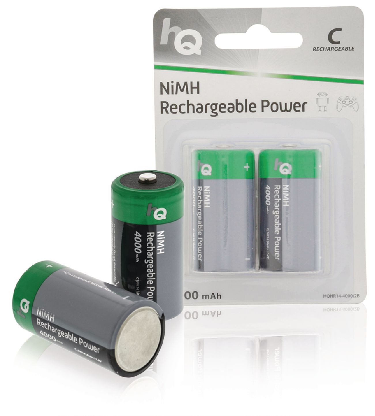NiMH Battery C 1.2 V 4000 mAh 2 blister