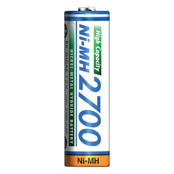 AA rechargeable battery 1.2V 2700mAh NiMH