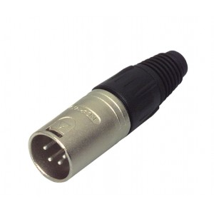 XLR Cable connector 4-pole male