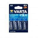 Varta 4x AA alkaline batterijen 1,5V LR6