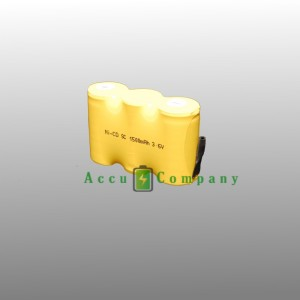 Accu NiCad 3.6V 1.5Ah Type S/C voor noodverlichting