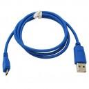 Micro usb Kabel 0.95M blauw