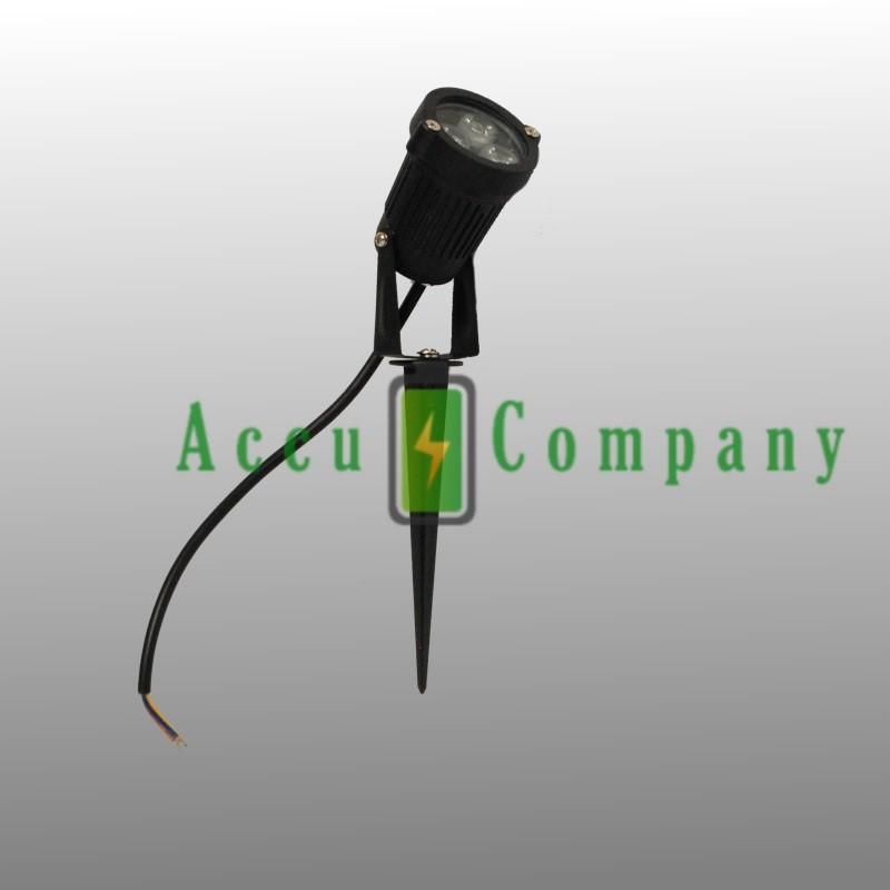 3 LED Tuinspot 220 volt met grondpin
