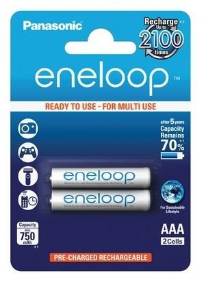 Panasonic eneloop BK-4MCCE/2BE herlaadbare AAA batterij 2-blister