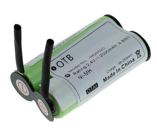 Accu voor  Philips scheerapparaat 138 10609 2.4V 2Ah NiMH