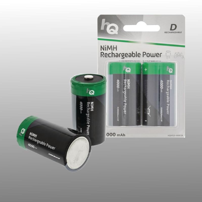 Oplaadbare NiMH D-batterij 4000 mAh, 2 stuks