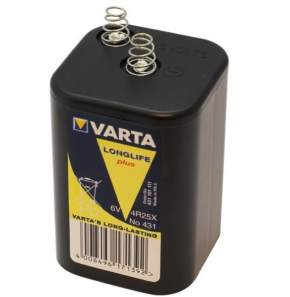 Varta Block Battery 6V 8500mAh 4R25X Longlife plus