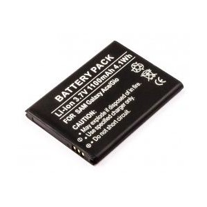 Samsung Galaxy Ace, Gio, Li-ion, 3.7V, 1100mAh battery