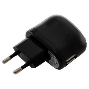 Laadadapter USB  2.1A zwart voor bv Apple iPad
