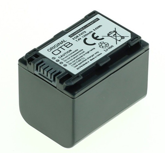 SONY NP-FH70/ NP-FP70 LI-ION 7.4V 1300mAh Replacement Battery