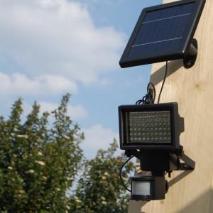 LED Solar buitenlamp 390 Lumen met bewegingssensor
