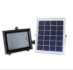 Solar Outdoor lamp with 80 LEDs and Li-ion battery