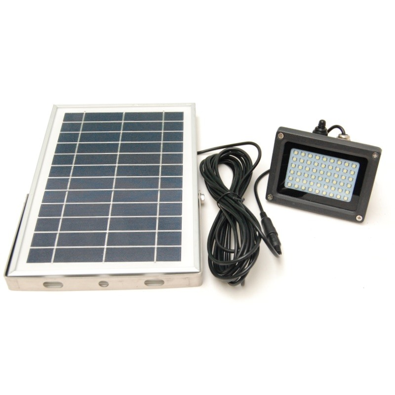 Solar Outdoor lamp with 54 LEDs and Li-ion battery