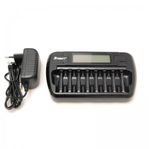Battery charger 8-channel NiMH and NiCD batteries