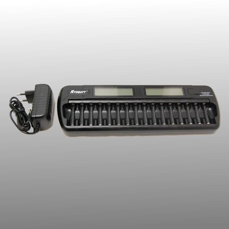 Batterijlader 16-kanaals NiMH en NiCD batterijen