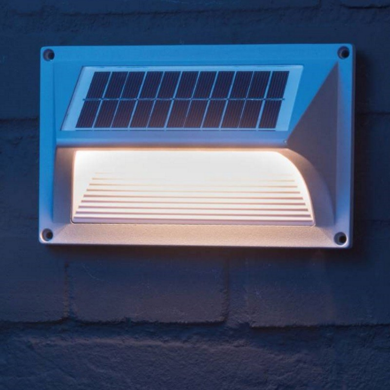 Solar LED wall lamp, staircase lighting
