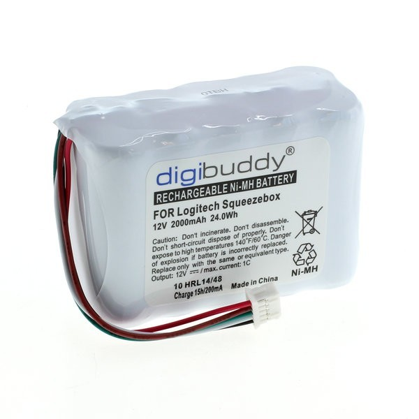 Battery for Logitech Squeezebox 12V 2 Ah NiMH Digibuddy