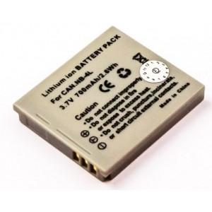 CANON NB-4L DARK GREY LI-ION 3.7V 750mAh vervangende accu