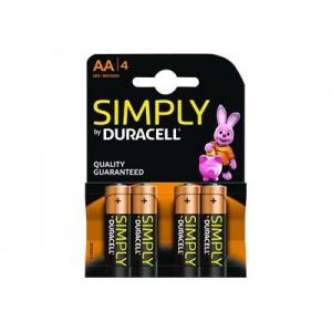 4x AA MN1500B4S Duracell Simply alkaline battery
