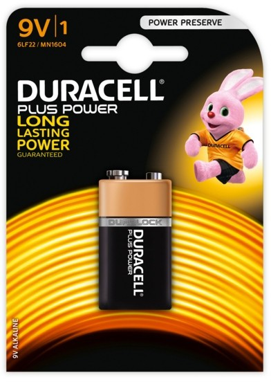 Duracell battery alkaline 9 V