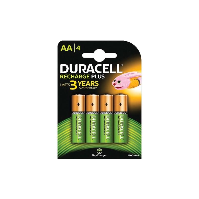 Duracell batterij oplaadbaar AA 4-blister