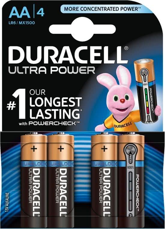 Duracell Ultra Power alkaline battery AA 4-blister