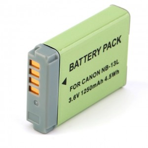Battery for Canon NB-13L camera 1250mAh li-ion