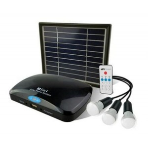 Solar light set with remote control