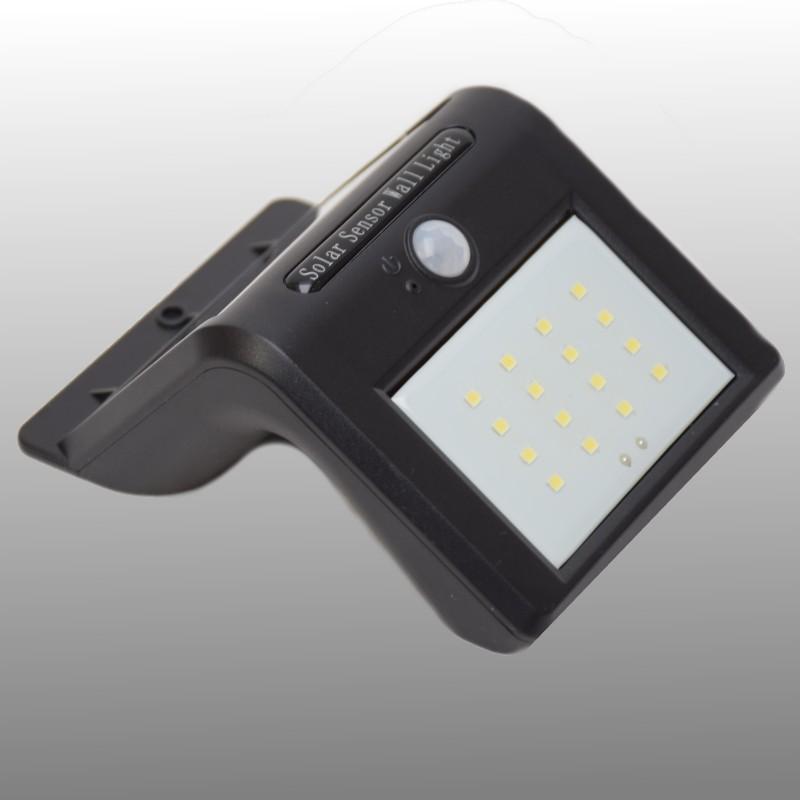 Solar 16 LED wandlamp met bewegingssensor