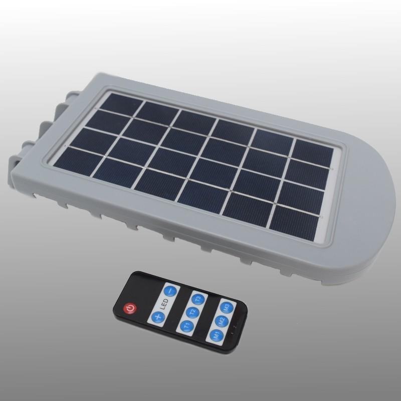 Solar LED 1000 lumen wandlamp met sensor en afstandsbediening