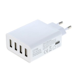 4-port USB charger with smart IC - 5A