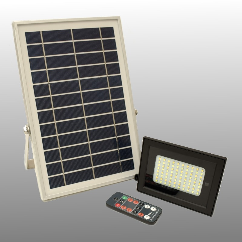 Solar LED outdoor lamp 500 lumens 6000K + 3500K