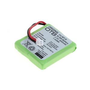 Batterij voor AVM FRITZ!Fon MT-D 2.4V 600mAh