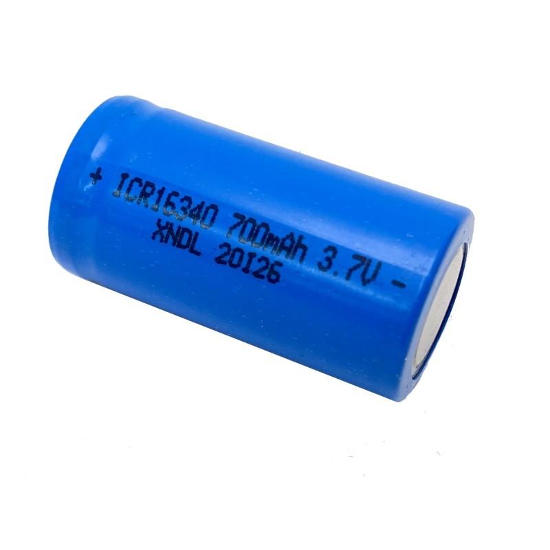Li-ion 3.7V 700mAh 16340 oplaadbare batterij