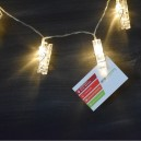 LED light chain for photos or Christmas cards
