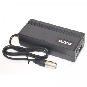 Quick charger for Li-ion battery pack 36V 3A XLR plug