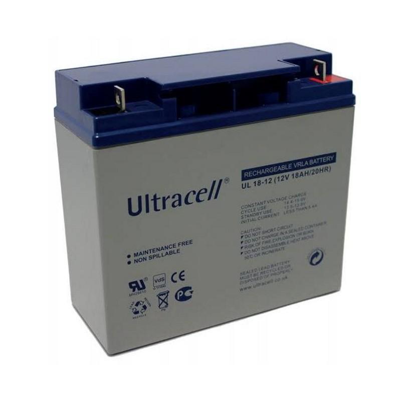 Ultracell oplaadbare loodaccu 12V 18Ah