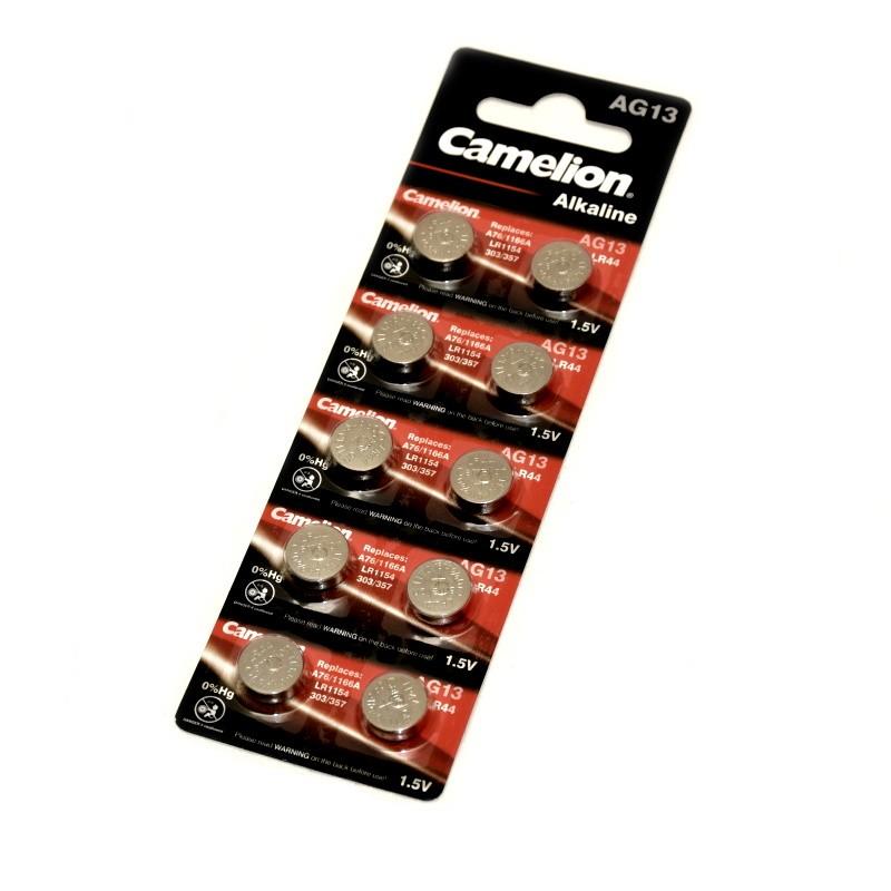 Camelion battery Alkaline LR44 1.5V 10-blister card