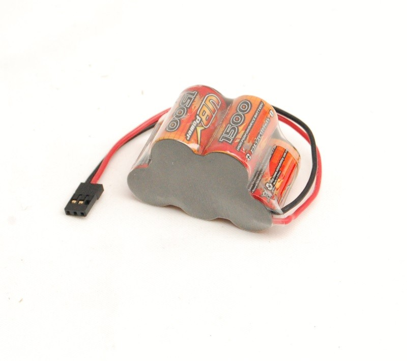 RC battery 6V 1500mAh, futuba connector