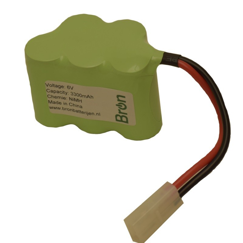 RC accu 6V 3300mAh Humppack, Tamiya connector