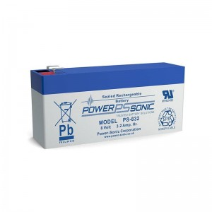 POWERSONIC PS832 8V/3.2AH AGM L134xB36xH63MM F1