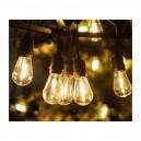 Solar lichtsnoer 15 LED filament lampen warm wit