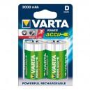 2 x oplaadbare batterij HR20 3000 mAh 1.2V