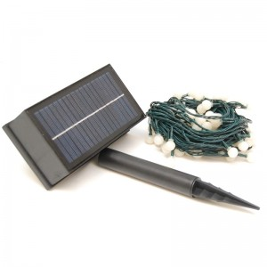 Kerstverlichting Solar 100 LED bol melkwit
