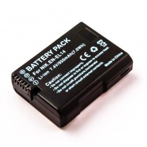 Battery for Nikon EN-EL14, D5500, D3100