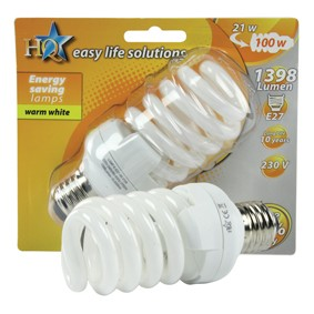 Energy saving bulb, spiral model 21W