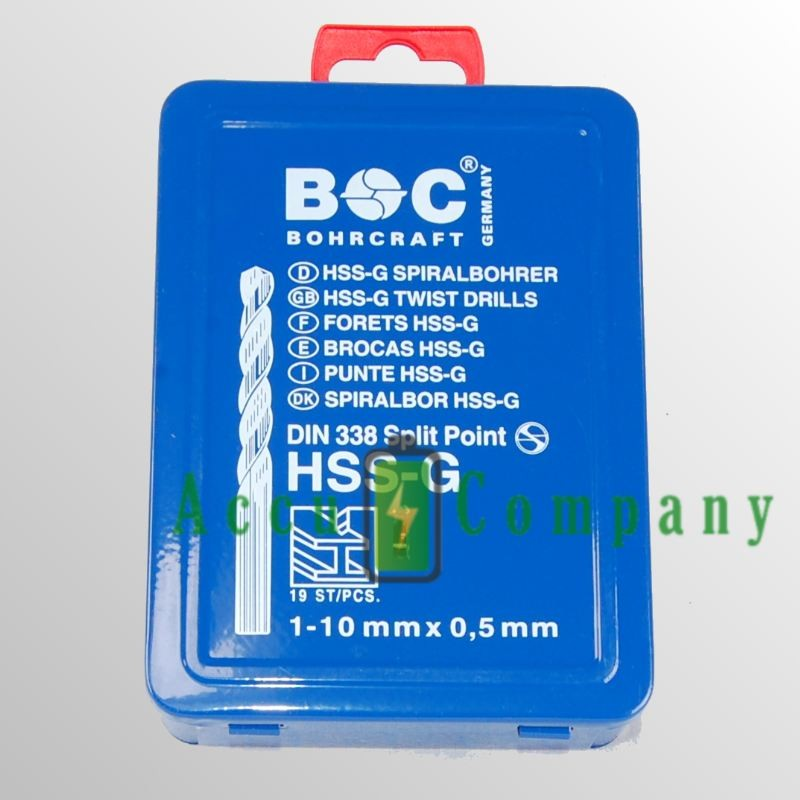 Borenset 19 delig HSS Titaan coating