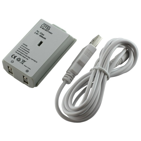 Battery for Xbox 360 NiMH white with USB-cable