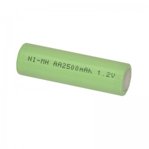 AA rechargeable battery 2500 mA, 1.2V