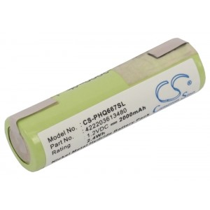 Battery for Philips shaver 422203613480 1.2V 2Ah NiMH